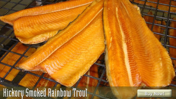 Purchase Hickory Smoked Rainbow Trout at Sugartown Smokes Specialties