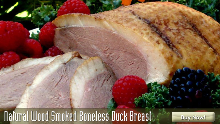 Natural Wood Smoked Boneless Duck 
