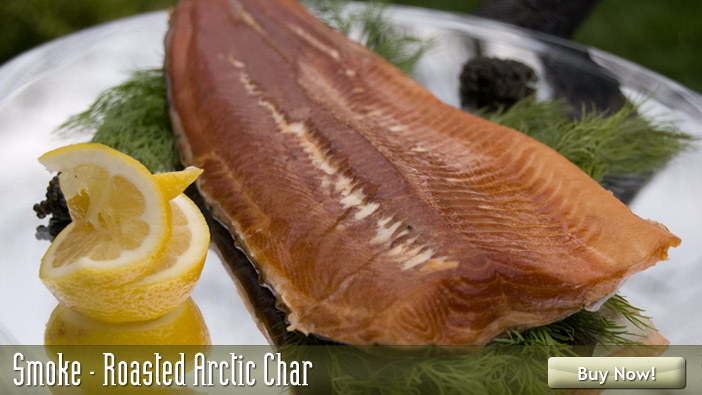 Smoked roasted arctic char