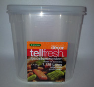 1.125L container for storing brined cheese