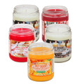 Pet Odor Exterminator Candles   Limited Time Offer Now Available in a Very Popular Winter Wonderland  Bundle   You will receive 5 Assorted Holiday fragrance candles:   * HollyBerry Hills * Hot Apple Cobbler * Orange Lemon Splash * Vanilla Glitz