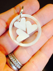 triple breast milk pendant