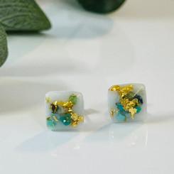 turquoise metallic earrings