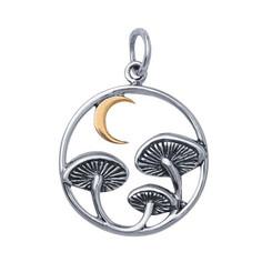 mushroom moon pendant