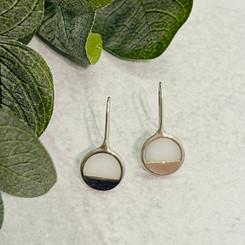 half circle earrings