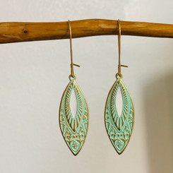 marquise turquoise drop earrings
