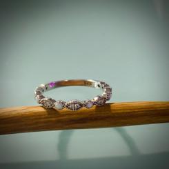 milgrain marquise ring