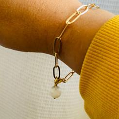 paperclip pearl bracelet