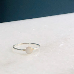 14k solid gold bezel ring