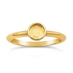 14K yellow gold round 5mm bezel ring