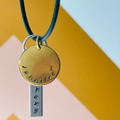 stamped stainless name disc