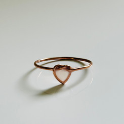 rose gold heart love knot ring