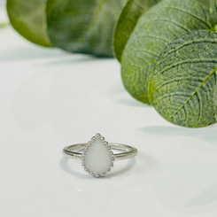 beaded pear ring