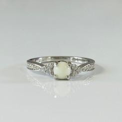 dainty crystal ring