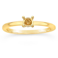 14k tiny breast milk ring