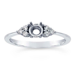 14k white gold crystal ring