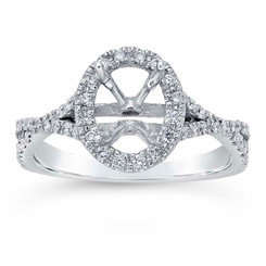 14k white gold oval diamond ring