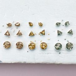 glass glitter studs