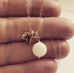 sterling small pearl