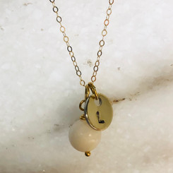 14k gold little pearl