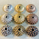 hammered silver, hammered gold, hammered copper, flower silver, flower gold, flower copper, urchin silver, urchin gold, urchin copper