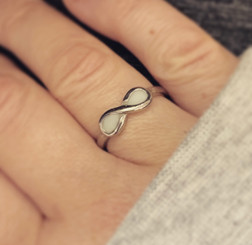 stainless infinity ring