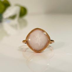 stainless square bezel ring