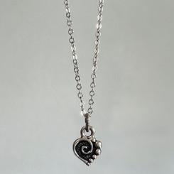 spiral heart charm