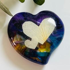 heart flower keepsake
