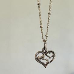 parent and child heart pendant