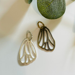 petite butterfly wing pendant