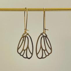 petite butterfly wing earrings