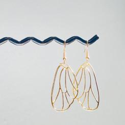 golden butterfly wing earrings