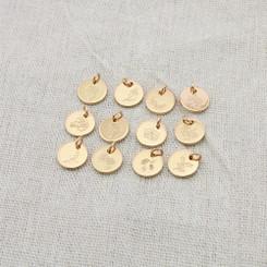 birth flower 10mm disc necklace