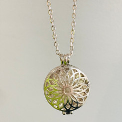 daisy filigree memorial locket