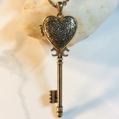 heart key locket