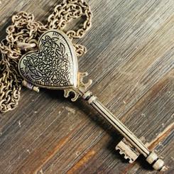 heart key locket