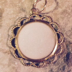 scalloped pendant