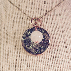 druzy disk and breast milk pearl