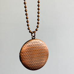 chevron locket
