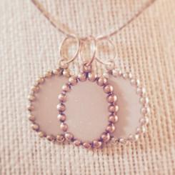 beaded frame pendant