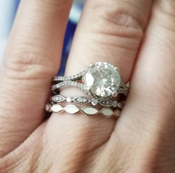scalloped eternity band