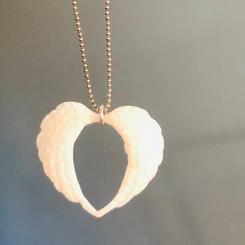 angel wings in a heart
