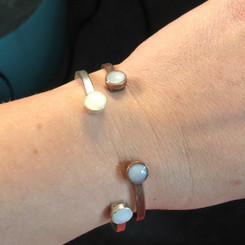two dots breast milk bracelet