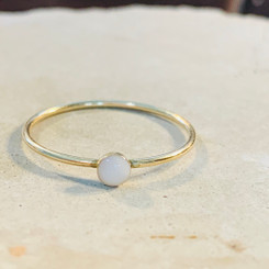 tiny gold dot ring