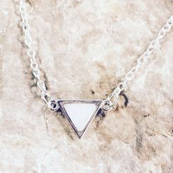 triangle link necklace