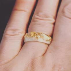faceted metallic ring
