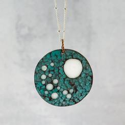moonscape circle pendant