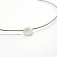 pearl cable necklace