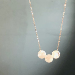 delicate pearl necklace